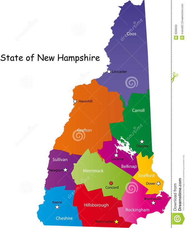 Dunbarton NH Info - State of nh map